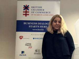 Visual of Kristina Baumann, Corporate Account Manager at British Chamber of Commerce in Lithuania