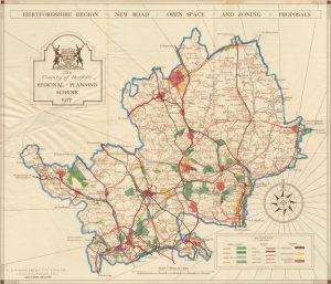 Hertfordshire old map